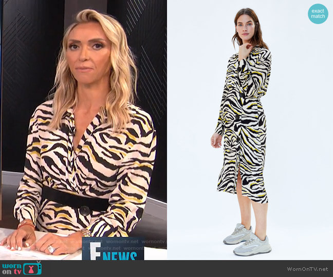 Zebra Printed Dress by Zara worn by Giuliana Rancic  on E! News
