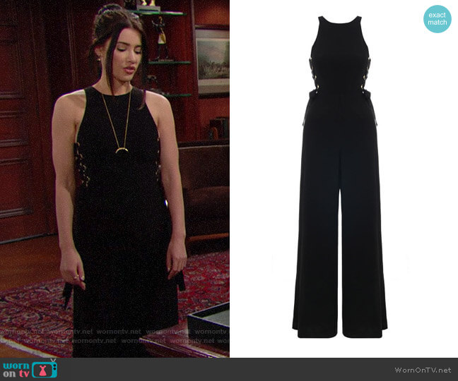Zimmermann Laced In Jumpsuit worn by Steffy Forrester (Jacqueline MacInnes Wood) on The Bold & the Beautiful