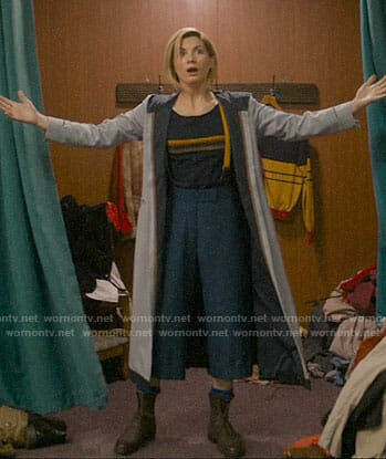 The 13th Doctor's outfit on Doctor Who