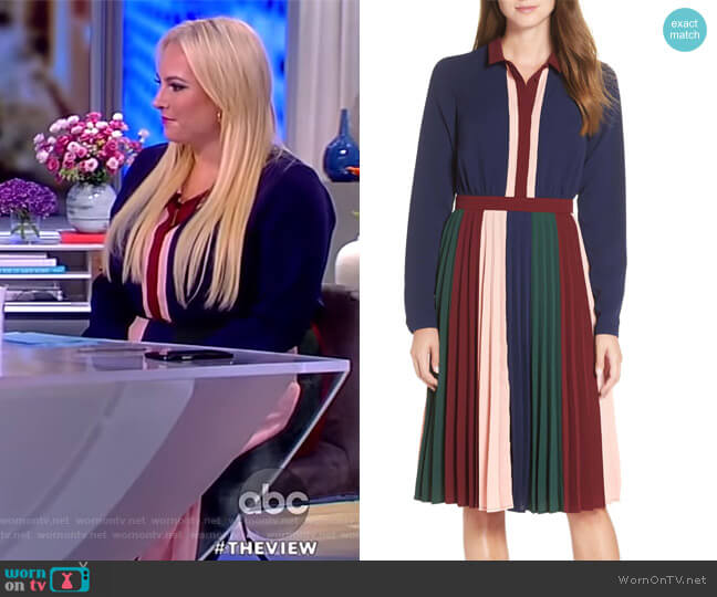Colorblock Midi Dress by 1901 worn by Meghan McCain (Meghan McCain) on The View