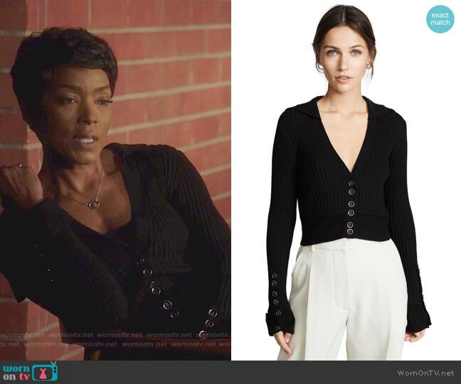 Sailor Cardigan by 3.1 Phillip Lim worn by Athena Grant (Angela Bassett) on 9-1-1