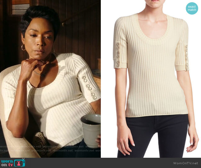 Button Detail Sleeve Sweater by 3.1 Phillip Lim worn by Angela Bassett on 9-1-1