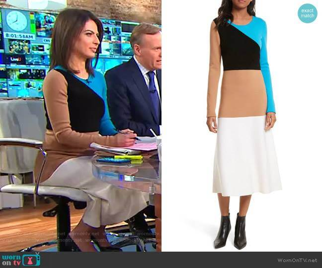 Long-Sleeve Dress by Diane von Furstenberg worn by Bianna Golodryga on CBS This Morning