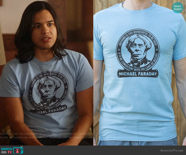 6 Dollar Shirts Michael Faraday Tee worn by Cisco Ramon (Carlos Valdes) on The Flash