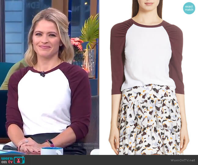 Elio Tee by ALC worn by Sara Haines  on Good Morning America
