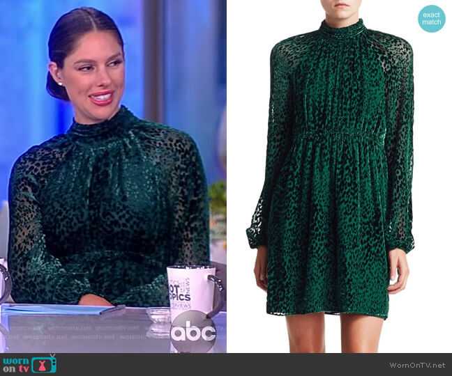 Nadia Velvet Burnout Mockneck Dress by A.L.C. worn by Abby Huntsman  on The View
