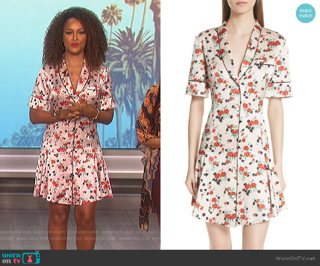 Eve's floral dress on The Talk