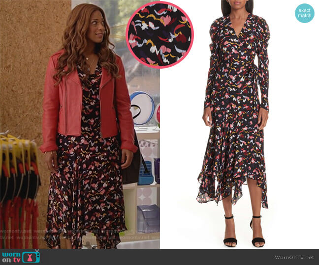 Tianna Dress by ALC worn by Poppy (Kimrie Lewis) on Single Parents