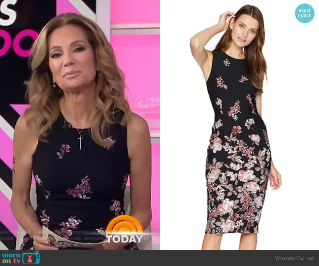 Falling Blossoms Printed Sheath by Adrianna Papell  worn by Kathie Lee Gifford  on Today