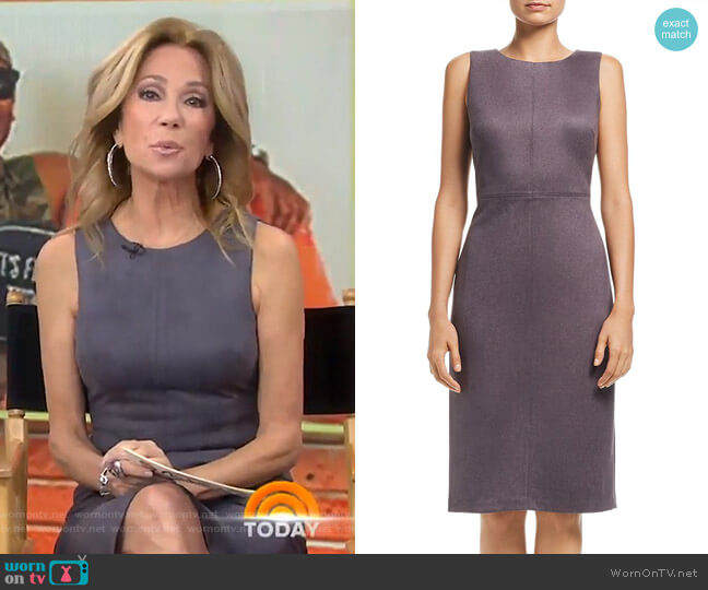 Faux Suede Dress by Adrianna Papell worn by Kathie Lee Gifford (Kathie Lee Gifford) on Today