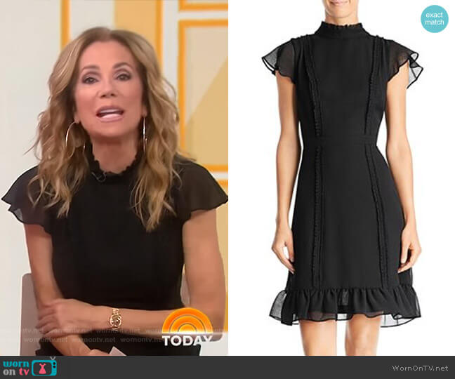 Textured Chiffon Ruffle Dress by Adrianna Papell worn by Kathie Lee Gifford  on Today