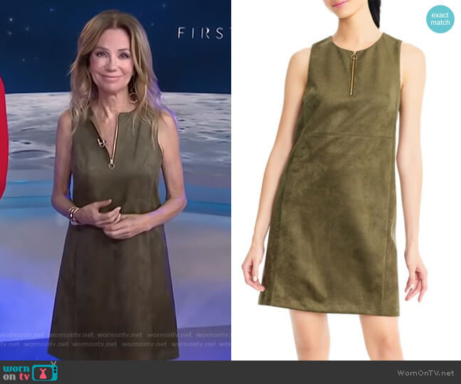 Suede Shift Dress by Adrianna Papell worn by Kathie Lee Gifford  on Today