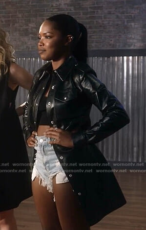 Alex's black leather jacket on Star