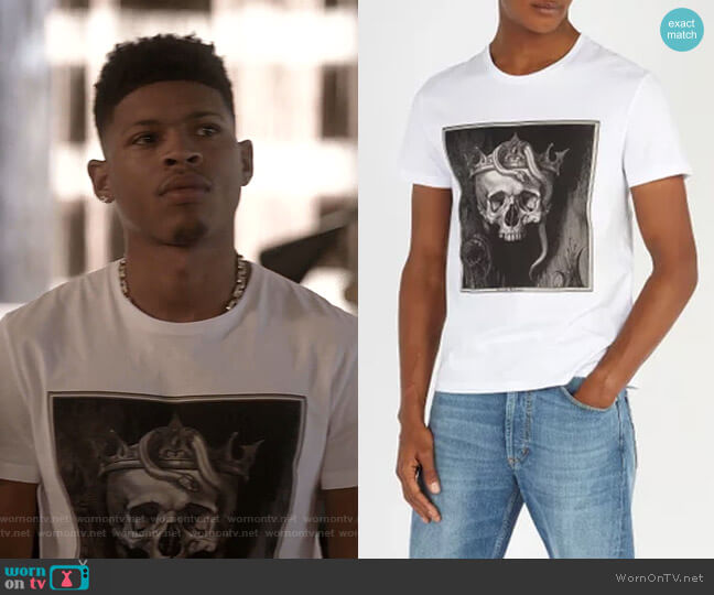 Skull-Print T-shirt by Alexander McQueen  worn by Hakeem Lyon (Bryshere Y. Gray) on Empire