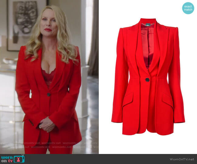 Layered Look Tailored Jacket by Alexander McQueen worn by Nicollette Sheridan on Dynasty