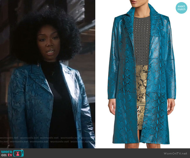 Logan Coat by Alice + Olivia worn by Cassie Brown (Brandy Norwood) on Star