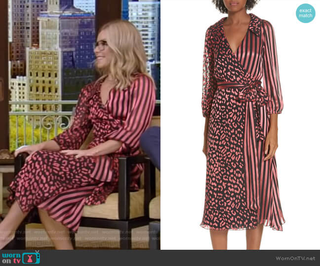 Kelly's stripe and leopard print dress on Live with Kelly and Ryan
