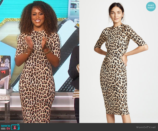 Delora Dress by Alice + Olivia worn by Eve on The Talk
