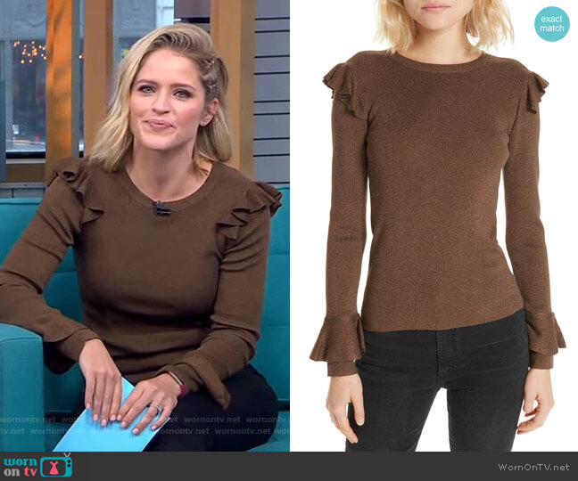 Mittie Sweater by Alice + Olivia worn by Sara Haines (Sara Haines) on Good Morning America