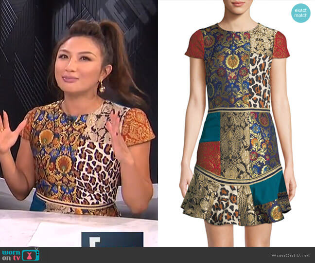 Rapunzel Dress by Alice + Olivia worn by Jeannie Mai on E! News