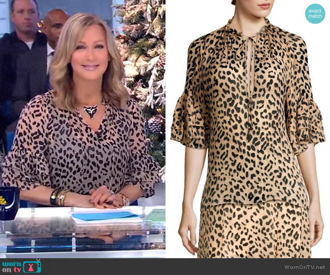 Julius Tunic by Alice + Olivia worn by Lara Spencer (Lara Spencer) on Good Morning America
