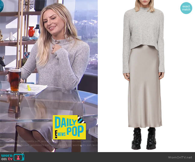 Tierny Two-Piece Sweater & Slipdress by All Saints worn by Morgan Stewart on E! News