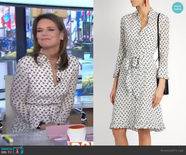 Laguna cherry-print silk dress by Altuzarra worn by Savannah Guthrie (Savannah Guthrie) on Today