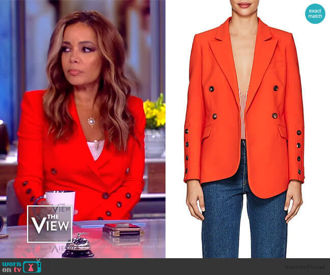 Wall Crepe Blazer by Altuzarra worn by Sunny Hostin  on The View