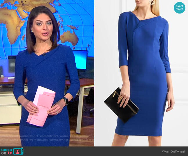 Ashby Dress by Roland Mouret worn by Bianna Golodryga on CBS This Morning