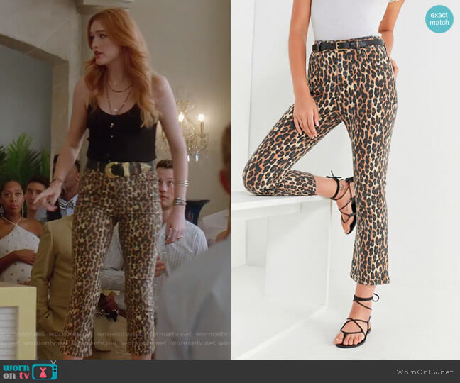 Kick Flare High-Rise Cropped Jean by BDG worn by Maddison Brown on Dynasty
