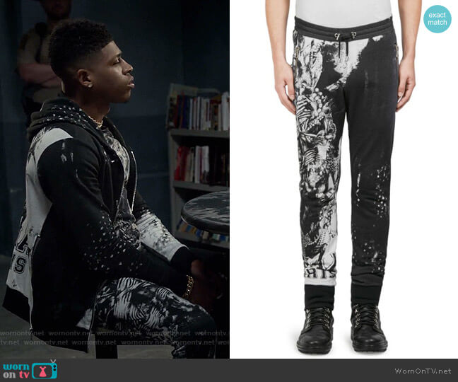 Graphic-Print Cotton Pants by Balmain  worn by Bryshere Y. Gray on Empire