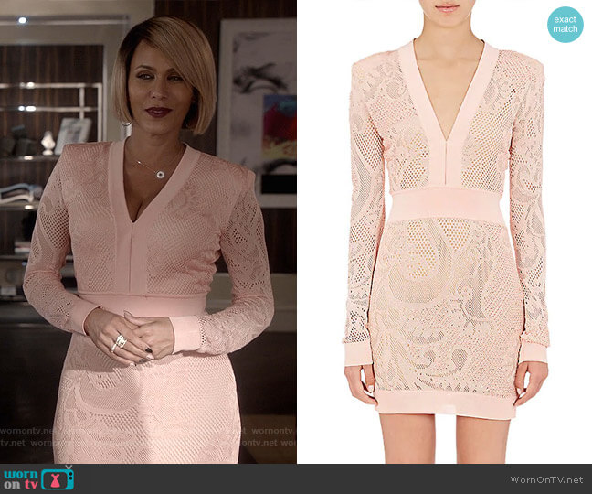 Pearl-Bead-Embellished Dress by Balmain worn by Nicole Ari Parker on Empire