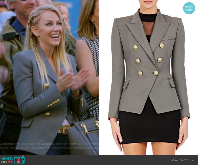 Wool Double-Breasted Blazer by Balmain worn by Stephanie Hollman (Stephanie Hollman) on The Real Housewives of Dallas