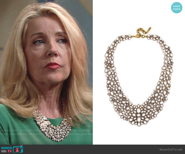 Baublebar Kew Collar Necklace worn by Nikki Reed Newman (Melody Thomas-Scott) on The Young & the Restless