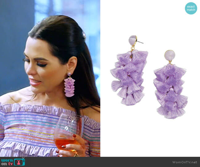Contessa Tassel Earrings by Baublebar worn by D'Andra Simmons  on The Real Housewives of Dallas