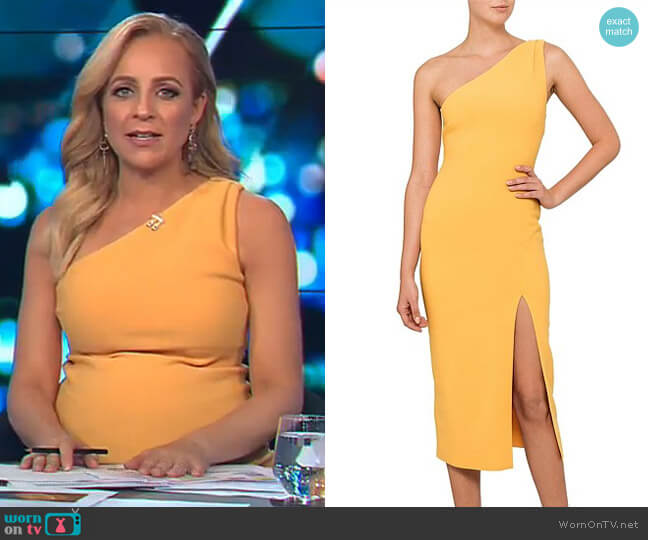 Tango Race Dress by Bec & Bridge worn by Carrie Bickmore (Carrie Bickmore) on The Project