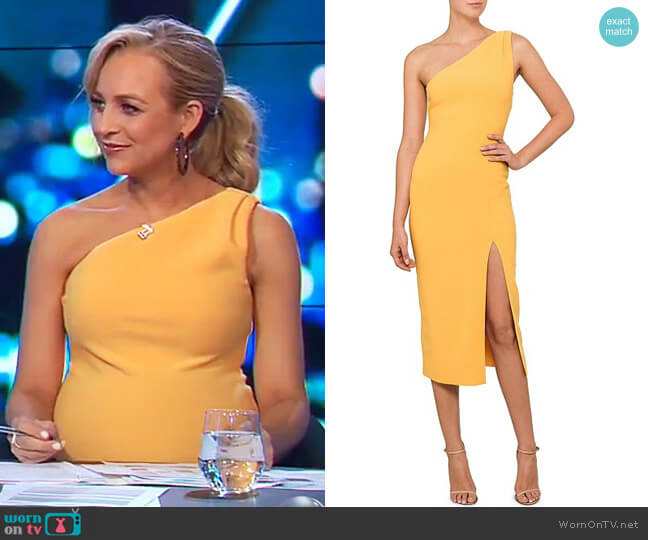 Tango Race Dress by Bec & Bridge worn by Carrie Bickmore on The Project