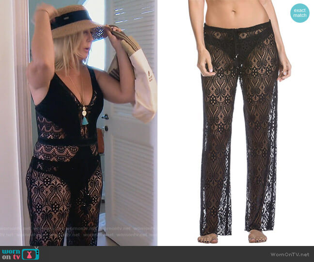 Poetic Pants Swim Cover up by Becca by Rebecca Virtue  worn by Vicki Gunvalson  on The Real Housewives of Orange County
