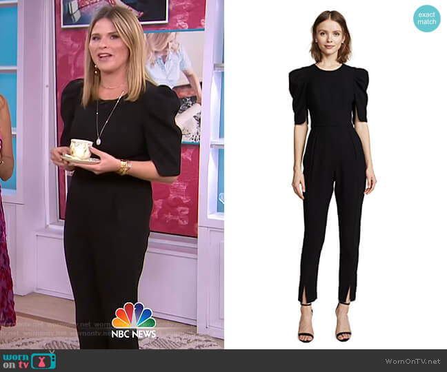 Russo Jumpsuit by Black Halo worn by Jenna Bush Hager on Today