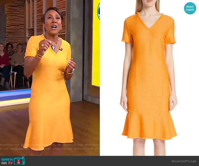 Caris Dress by St. John Collection worn by Robin Roberts (Robin Roberts) on Good Morning America