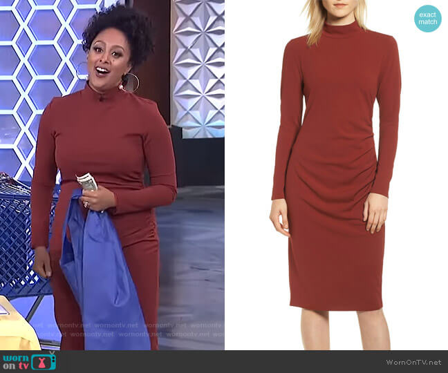 Mock Neck Body-Con Dress by Chelsea28 worn by Tamera Mowry  on The Real
