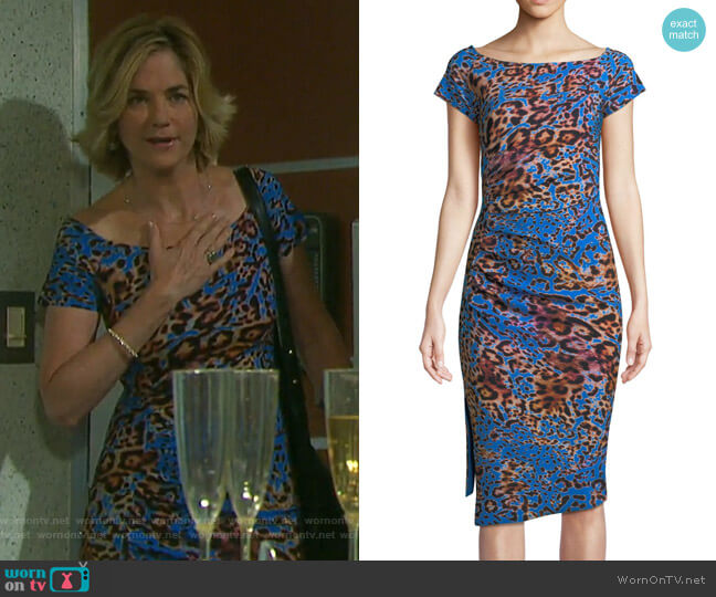 Devsi Dress by Chiara Boni La Petite Robe worn by Eve Donovan (Kassie DePaiva) on Days of our Lives