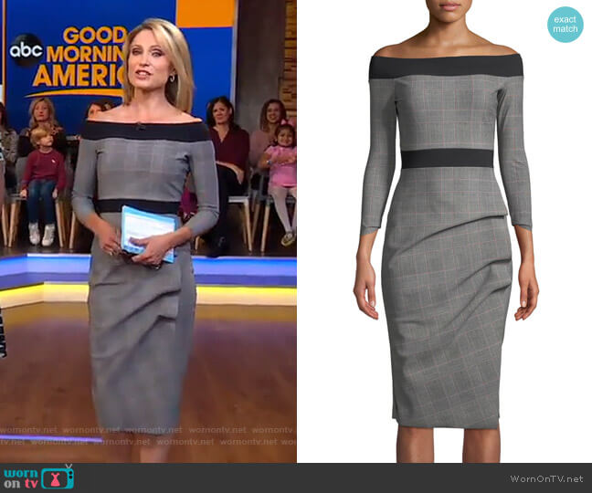 87e5ae38264 Larissa Dress by Chiara Boni La Petite Robe worn by Amy Robach (Amy Robach)