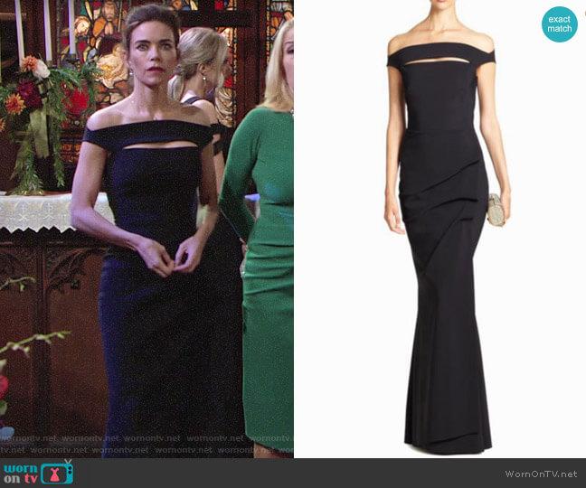 Chiara Boni La Petite Robe Melania Gown worn by Victoria Newman (Amelia Heinle) on The Young & the Restless