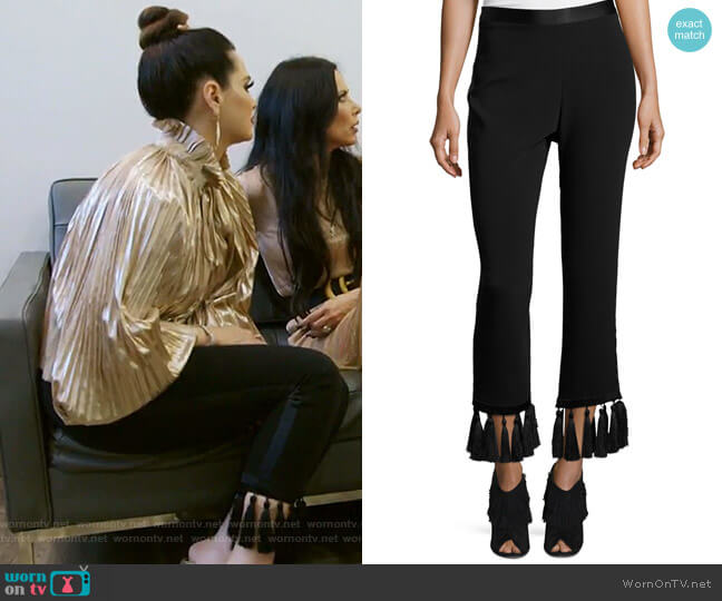 Tash Tassel-Hem Straight-Leg Pants by Cinq a Sept worn by D'Andra Simmons  on The Real Housewives of Dallas