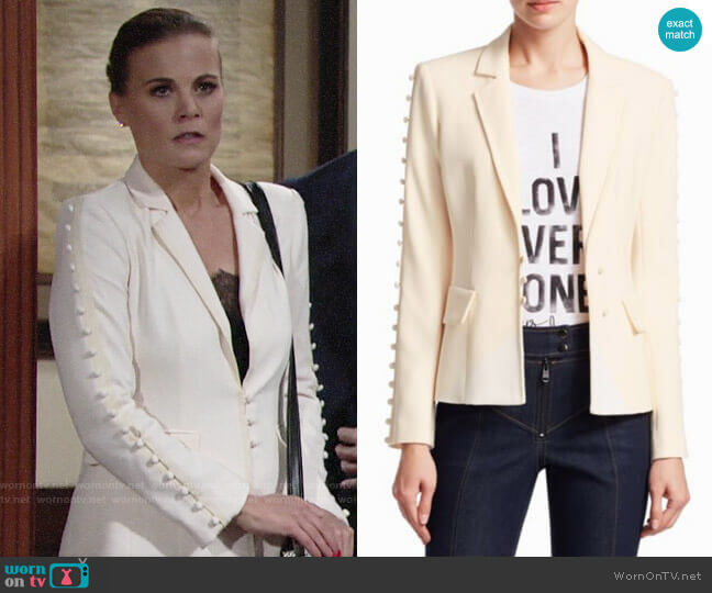 Cinq a Sept Vivianna Blazer worn by Phyllis Newman (Gina Tognoni) on The Young & the Restless