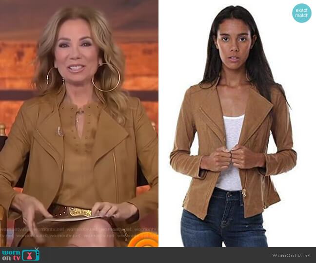 Liquid Leather Zip Jacket by Clara Sunwoo worn by Kathie Lee Gifford  on Today