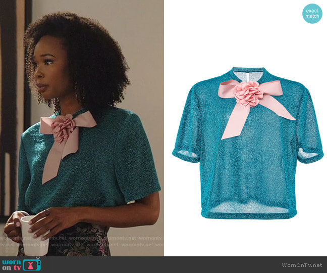 Furby Glitter Top by Alcoolique worn by Monica Colby (Wakeema Hollis) on Dynasty