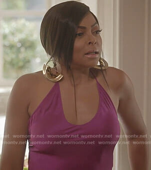 Cookie's purple halter top on Empire