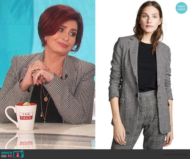 The Calla Blazer by Current/Elliott worn by Sharon Osbourne (Sharon Osbourne) on The Talk